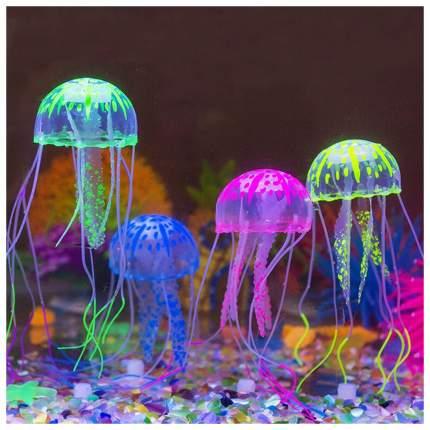 Медуза силиконовая с неоновым эффектом, маленькая, D=5см