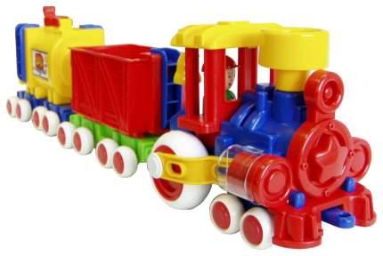 Железнодорожный набор Форма Паровозик Ромашка С-119-Ф с 2 вагонами