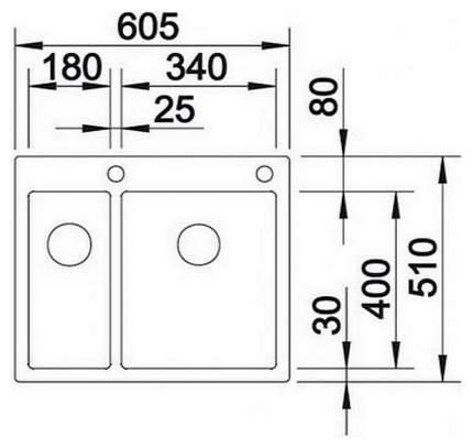Мойка для кухни из нержавеющей стали Blanco Claron340/180-IF 521608 сталь