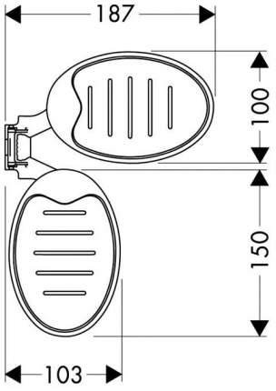 Набор мыльниц Hansgrohe Raindance Cassetta 28698000