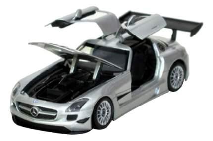 Коллекционная модель MotorMax Mercedes Benz SLS АMG GT3 серебристая 1:24