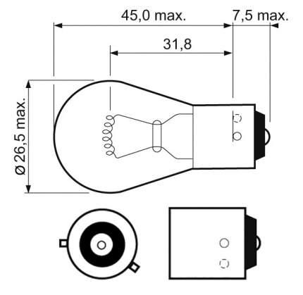 Лампа галогеноваяVALEO 21W BAU15s 32203