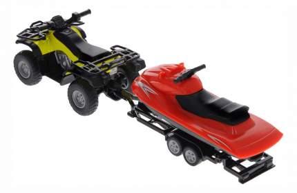 Коллекционная модель Siku Квадроцикл с катером