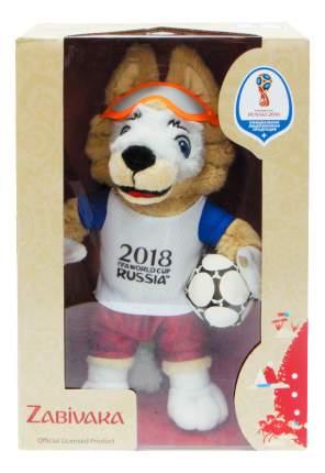 Мягкая игрушка FIFA-2018 Волк Забивака плюшевый 24 см в подарочной коробке