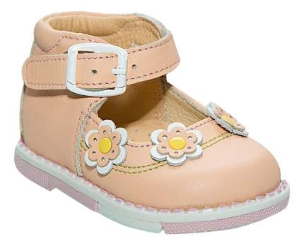 Туфли Таши Орто Три цветочка коралловые