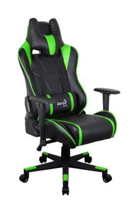Игровое кресло AeroCool AC220 AIR, зеленый/черный