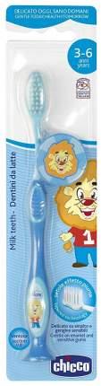 Зубная щетка Chicco с присоской Голубая 320617015