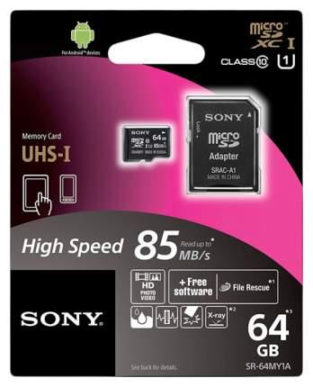 Карта памяти Sony Micro SDHC UHS-I SR-64MY1A/T 64GB