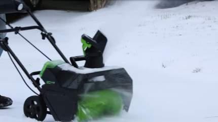 Аккумуляторный снегоуборщик Greenworks GD80SB  2600107UB (Акб и Зу в комплекте)