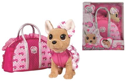 """Плюшевая собачка Chi-Chi Love """"Модная собачка"""" с сумочкой, 20 см Simba"""