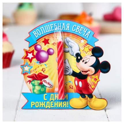 """Свеча в торт Дисней """"Волшебная свеча"""" , Микки Маус Disney"""