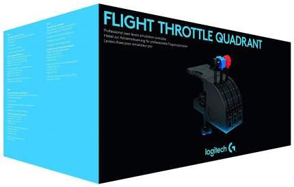 Джойстик Logitech Flight Throttle Quadrant Black
