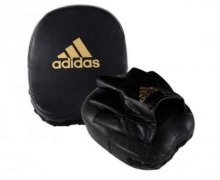 Лапы adidas Short Focus Mitts черно-золотые