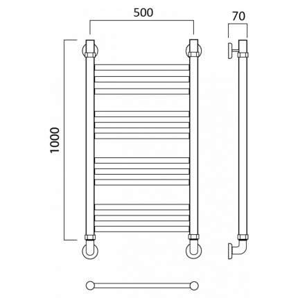 Водяной полотенцесушитель Роснерж Прямая L107010 100x50 групповой