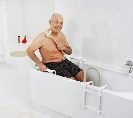 Сидение в ванну белое/хром