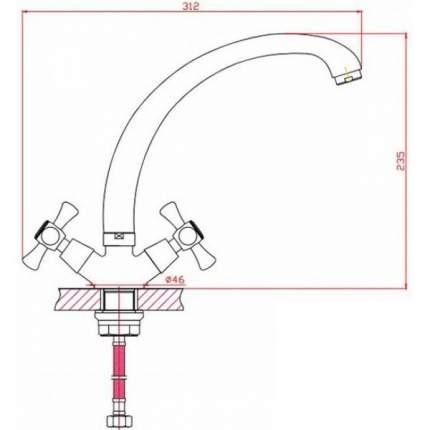 Смеситель для кухонной мойки Agger серия Retro A1900288
