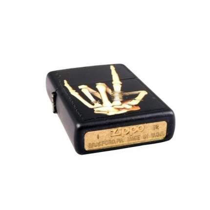 Бензиновая зажигалка Zippo Skeleton Hand Black Matte