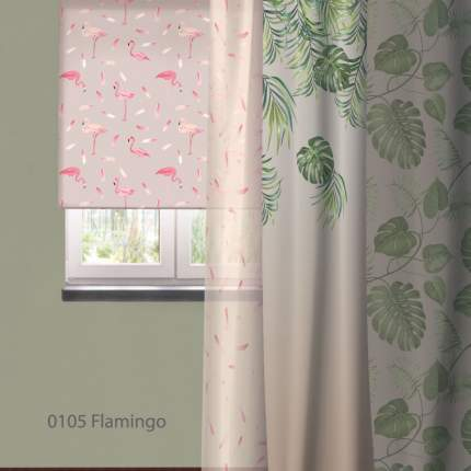 Штора Рулонная Волшебная Ночь 140х175 см Flamingo