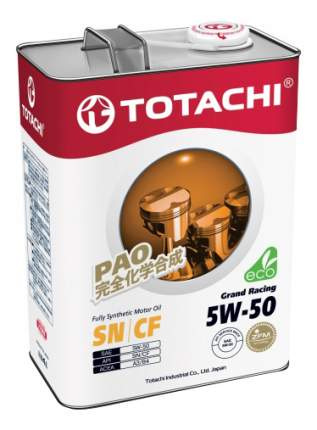Моторное масло Totachi Grand Racing Fully Synthetic SN/CF 5W-50 4л