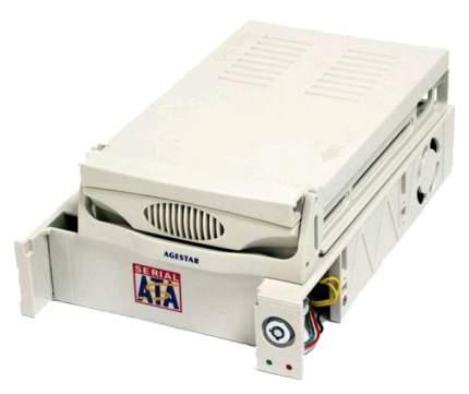 Салазка для HDD 3.5 AGESTAR MR3-SATA(S)-1F 1fan бежевый SR3P-S-1F