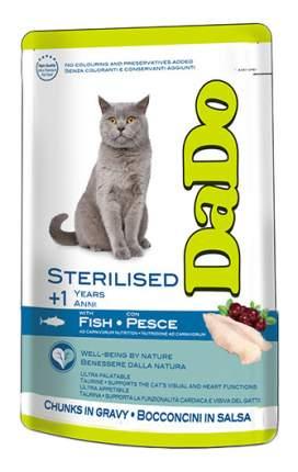 Влажный корм для кошек Dado Sterilised, для стерилизованных, с рыбой, 85г