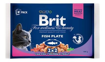 Влажный корм для кошек Brit Premium, лосось, 100г