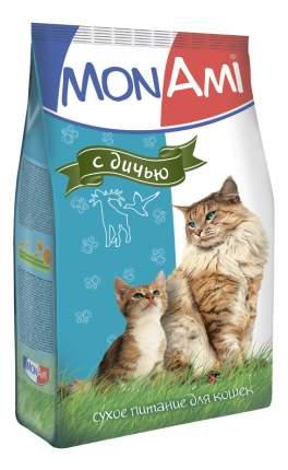 Сухой корм для кошек MonAmi, дичь, 10кг