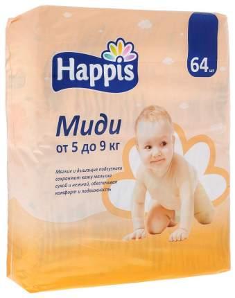 Подгузники Happis Миди 3 (5-9 кг), 64 шт.