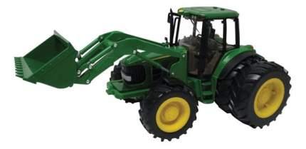 Трактор Tomy John Deere 6830 с двойными колесами и фронтальным погрузчиком