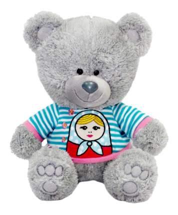 Мягкая игрушка LAVA Медвежонок Ники в футболке с матрёшкой музыкальный