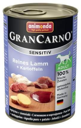 Консервы для собак Animonda Gran Carno Sensitiv, картофель, ягненок, 400г