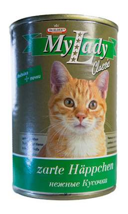 Консервы для кошек Dr. Alder's My Lady Classic, с индейкой и почками в соусе, 415г
