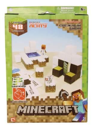 Аппликация из бумаги 1TOY Minecraft. Снежный биом