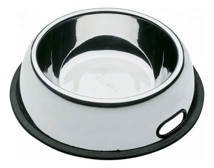 Одинарная миска для кошек и собак Ferplast, сталь, резина, серебристый, 0.25 л