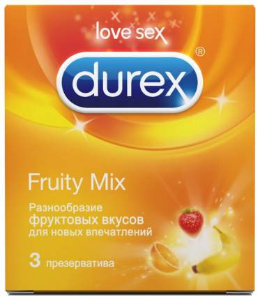 Презервативы Durex Fruity Mix 3 шт.