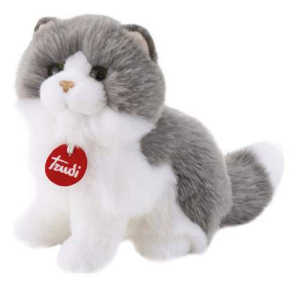 Мягкая игрушка Trudi серо-белая кошка Клотильда