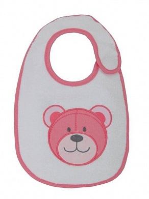 Нагрудник детский Polini Набор слюнявчиков Плюшевые мишки розовый с вышивкой