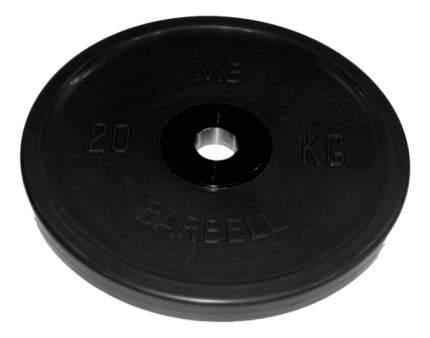 Блин обрезиненный MB Barbell Atlet 20 кг сталь MB-PltBE-20 51 мм черный