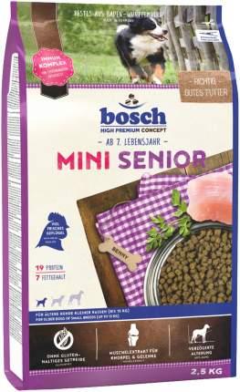 Сухой корм для собак Bosch Mini Senior, для пожилых мелких пород, домашняя птица, 1кг
