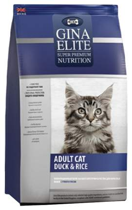 Сухой корм для кошек GINA Elite, утка, рис, 3кг
