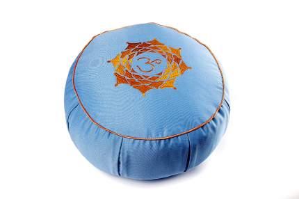 Подушка для йоги RamaYoga Ом, голубой