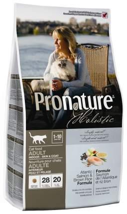 Сухой корм для кошек Pronature Holistic Skin & Coat, для кожи и шерсти, лосось, рис,2,72кг