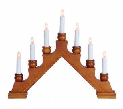 """Светильник-горка """"Karin-7"""", 42*35 см, 7 электрических свечей, темное дерево 276-06"""