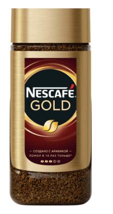 Кофе растворимый Nescafe Gold стеклянная банка 190 г
