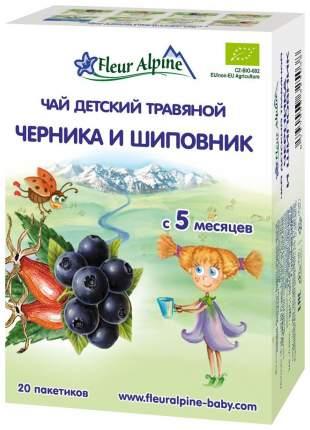 Чай Fleur Alpine Organic Черника и шиповник с 5 мес 20 пакетиков
