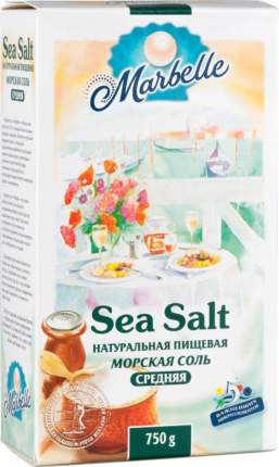 Соль морская пищевая Marbelle натуральная средняя 750 г