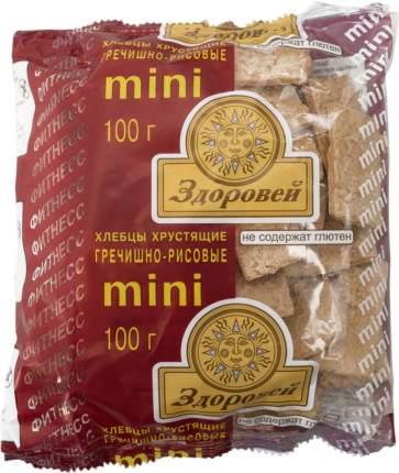 Хлебцы хрустящие Здоровей гречишно-рисовые мини 100 г