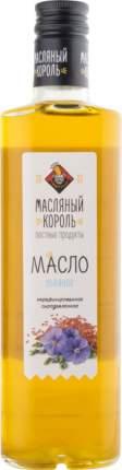 Масло льняное Масляный Король нерафинированное сыродавленное 350 мл