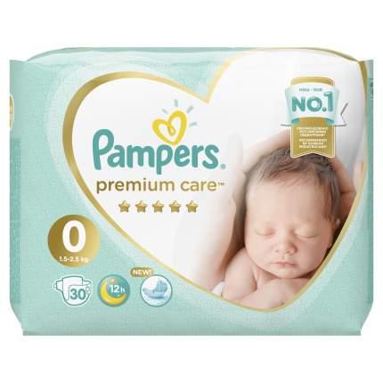 Подгузники для новорожденных Pampers Premium Care 0 (1,5-2,5 кг), 30 шт.