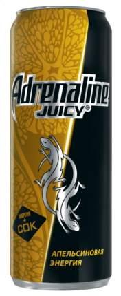Энергетический напиток апельсиновая энергия Adrenaline juicy ажестяная банка 0.5 л